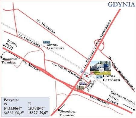mapa Gdynia